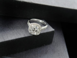 Floating Engagement Rings